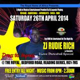 RUDIE RICH SOUND 26/04/2014 @ THE ROYAL Rudie Rich Feat Father X-Amount - I Love Dancehall™ Special