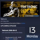 Gabriel Ben Presents Tektronic 086 (June 2016) with guest Peter Bailey