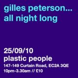 Gilles Peterson Worldwide Vol.3 No.11 // Gilles Plastic People Warm Up Mix
