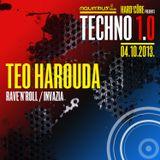 TEO HAROUDA - Live @ Hard²Core presents TECHNO 1.0 (Aquarius A1, Zagreb - 04.10.2013)