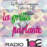 """""""La Grillo parlante"""" su Radio 102 - 11/05/2016 ospiti """"La Piccola Compagnia"""", Teatro in LIS"""