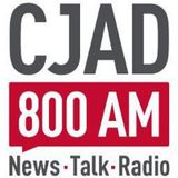 DJ YO-C Talking with Natasha Hall on CJAD 800 AM and mixing some Christmas music live in studio