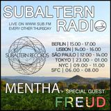 Mentha b2b Freud - Subaltern Radio 01/09/2016 on SUB.FM