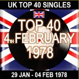 UK TOP 40 29 JAN - 04 FEB 1978