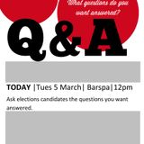 CANDIDATE QUESTION TIME: SU ELECTIONS 2013