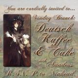 Sunday Brunch : Deutsch Kaffee and Cake with Amadeus