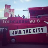 130922 RIM-K DJ Set on the FM Brussel bus at Brussels Car Free day at Poelaert place