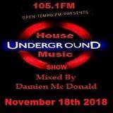 Opentempo Underground House Music Mix Show 18/11/2018