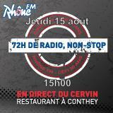 Jeudi 15 août 2013 - 15h - défi des 72h00 de radio non-Stop