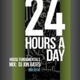 24 hours a day - house mix by dj jon bates 2014