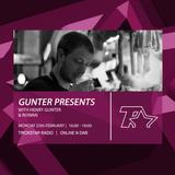 GUNTER Presents on Trickstar Radio: 25th February 2019 - w/ Rowan