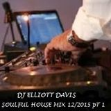 DJ ELLIOTT DAVIS SOULFUL HOUSE MIX 12/2015