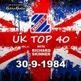 RADIO 1 TOP 40 - RICHARD SKINNER FIRST SHOW - 30-9-1984