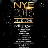 Minitech Project LIVE @ Waters NYE 2016,Vagator Goa India