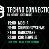 Darksnake exclusive mix Techno Connection Nightflight Radio 16/02/2018