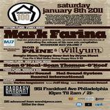 Mark Farina @ 100th Shakedown Anny- The Barbary, Philadelphia- Mushroom Jazz 7 Tour- January 8, 2011