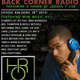 BACK CORNER RADIO: Episode #58 (April 18th 2013)