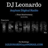 DJ Leonardo - Tune into Techno - Asylum Digital Radio 1 Year Anniversary 19.01.2019