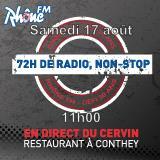 Samedi 17 août 2013 - 11h - défi des 72h00 de radio non-Stop