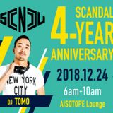DJ TOMO Live at SCANDAL 4-Year Anniversary Party 12/24/2018