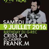 9/7/16 BIRTHDAY DJ G-REC ART'ICOLE