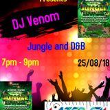 Venom's 2 hour Jungle show live on www.lazerfmworldwide.com 26/08/18