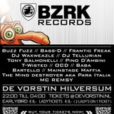 Dj Buzz fuzz promo mix for BZRK LABEL NIGHT AND FRIENDS 16th of MAY Hilverum by UPTEMPO EVENTS