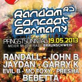 Dj Randall & MC Foxy live at Random Concept Germany 19.05.13