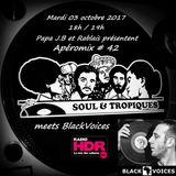 Apéromix #42 Soul & Tropiques meets BlackVoices for radio HDR. 03/10/2017