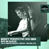 LIVE AT LIQUIFYAH - Modify Perspective B2B Imba with MC Bluejay - 2nd April 2015