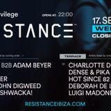 Carl Cox B2B Adam Beyer - Live @ Resistance Privilege Ibiza (Closing) - 17-Sep-2019