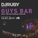 DJ Ruby live at Guys Bar Koh Phangan Thailand 13-01-17