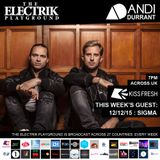 Electrik Playground 12/12/15 : Sigma Guest Session