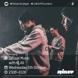 Critical Sound No.36 | Rinse FM | KLAX | 05.10.16