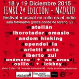 SET FESTIVAL FIMRI2 EN FOTOMATON MADRID 18-19 diciembre 2015(festival del blog mi rollo es el indie)