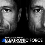 Elektronic Force Podcast 215 with Marco Bailey