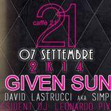 Simply David @ Caffe 21 Prato 09 07 2014