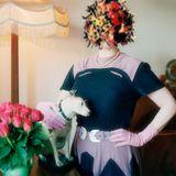 """Female Figure With a Head of Flowers"", an avant-garde melange by Auntie Maureen"