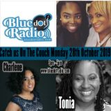 On the Couch , Marcia M, Katie, Charlene and Tonia , Authors, Music and Musing 28th October 2019