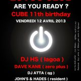 Dave Kane Live @ LOTUS CLUB - CUBE 11th Birthday