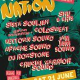 Crucial Warrior Sound @ Rasta Nation #48 day 2 (June 2014) part 2/12