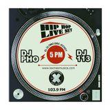 DJ 113 & DJ PHO Hip Hop Live Set para La X Más Música - Julio 17