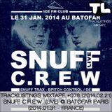Tracklistings Mixtape #076 (2014.02.21) : Snuff Crew (Live) @ Batofar Paris (2014.01.31 - France)