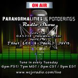 Butch Witkowski Returns to the Paranormalities & Ponderings Radio Show! Episode #99
