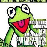 DJ NISH + ANDY MC - BUNCEY B  LIVE ON RAVINMANIACZ RADIO 05/01/2013  (UK HARDCORE)