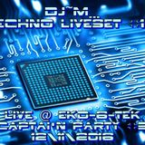 Dj~M... Techno Liveset #12 @ EkO-6-TeK - Captai'N Party #5 [12-11-2016]