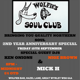 Wolfies 2nd Anniversary 15th September 2017