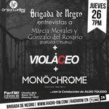 Brigada junto a Marcia Morales y Gonzalo Del Rosario de Editorial Cthulhu+ Violáceo + MonöChrome EBM