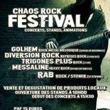 Emission du 09/09/2017 avec CHAOS ROCK et le groupe Diversion Rock