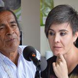 Miguel Tankamash, primer presidente de la Federación Shuar y Juanita Berzosa Delegada del MIES